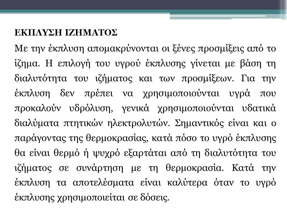 ΕΚΠΛΥΣΗ ΙΖΗΜΑΤΟΣ