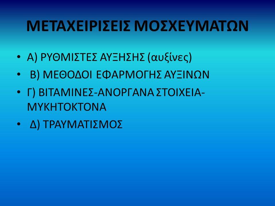 ΜΕΤΑΧΕΙΡΙΣΕΙΣ ΜΟΣΧΕΥΜΑΤΩΝ