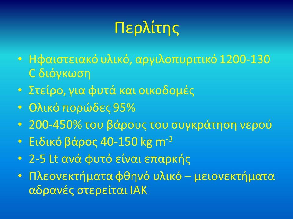 Περλίτης Ηφαιστειακό υλικό, αργιλοπυριτικό 1200-130 C διόγκωση