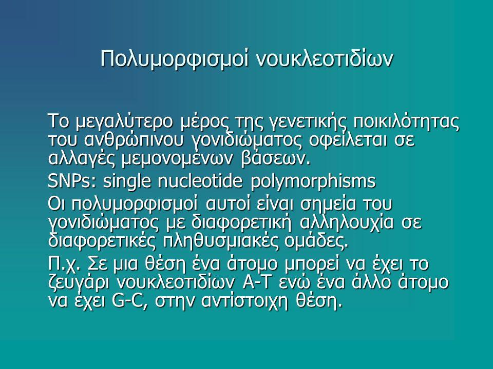 Πολυμορφισμοί νουκλεοτιδίων