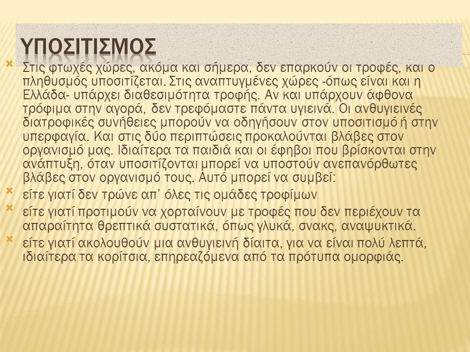 ΥΠΟΣΙΤΙΣΜΟΣ