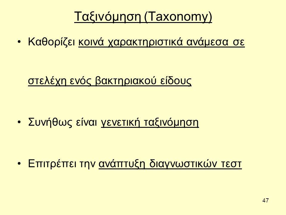 Ταξινόμηση (Taxonomy)