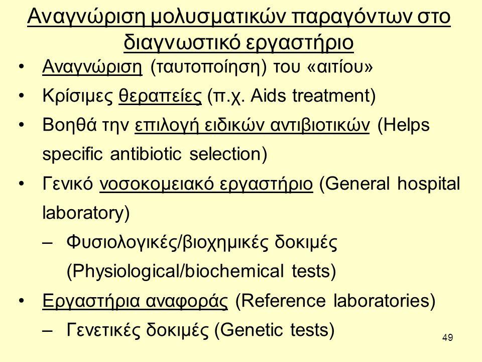 Αναγνώριση μολυσματικών παραγόντων στο διαγνωστικό εργαστήριο