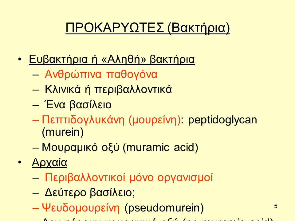 ΠΡΟΚΑΡΥΩΤΕΣ (Βακτήρια)