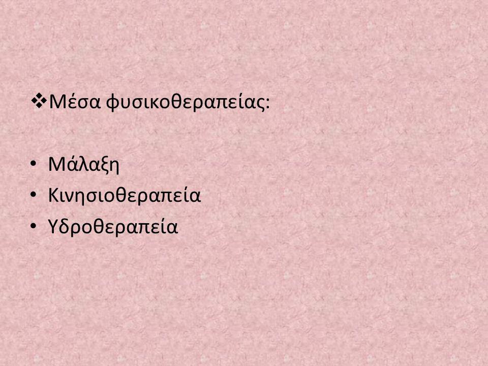 Μέσα φυσικοθεραπείας: