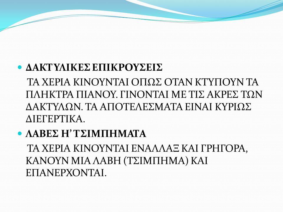 ΔΑΚΤΥΛΙΚΕΣ ΕΠΙΚΡΟΥΣΕΙΣ