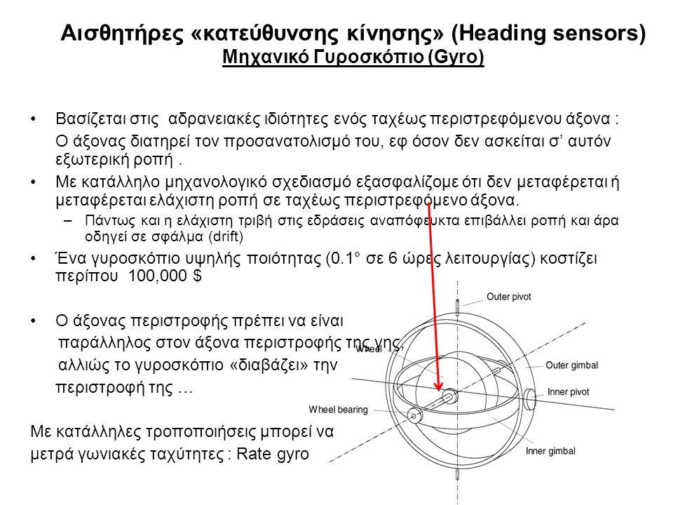 Αισθητήρες «κατεύθυνσης κίνησης» (Heading sensors)
