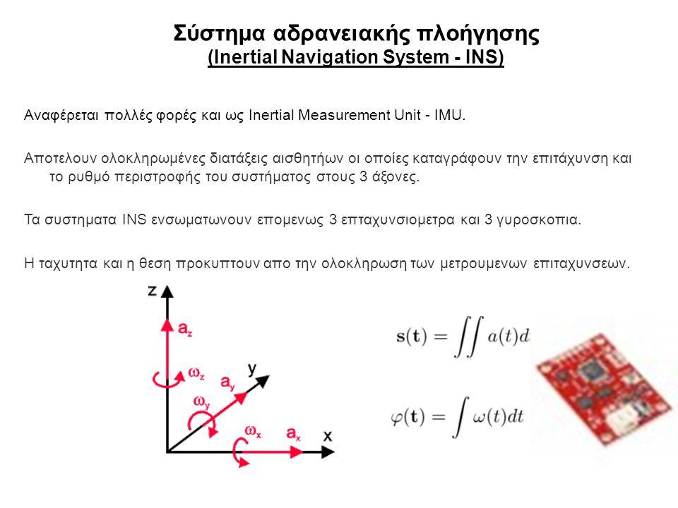 Σύστημα αδρανειακής πλοήγησης (Inertial Navigation System - INS)