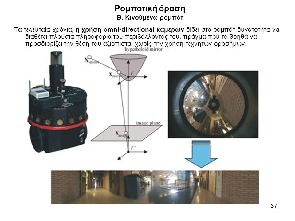 Ρομποτική όραση B. Κινούμενα ρομπότ