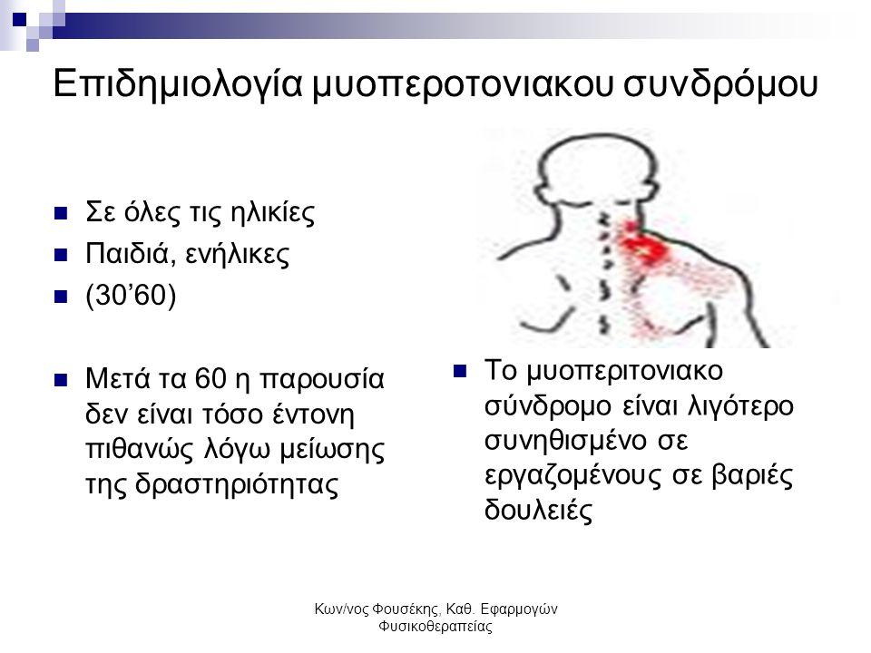 Επιδημιολογία μυοπεροτονιακου συνδρόμου