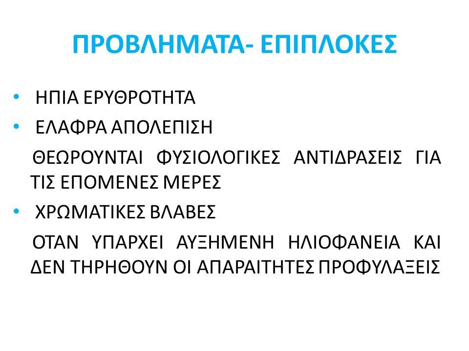 ΠΡΟΒΛΗΜΑΤΑ- ΕΠΙΠΛΟΚΕΣ