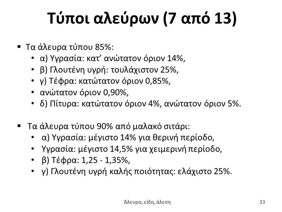 Τύποι αλεύρων (7 από 13) Τα άλευρα τύπου 85%:
