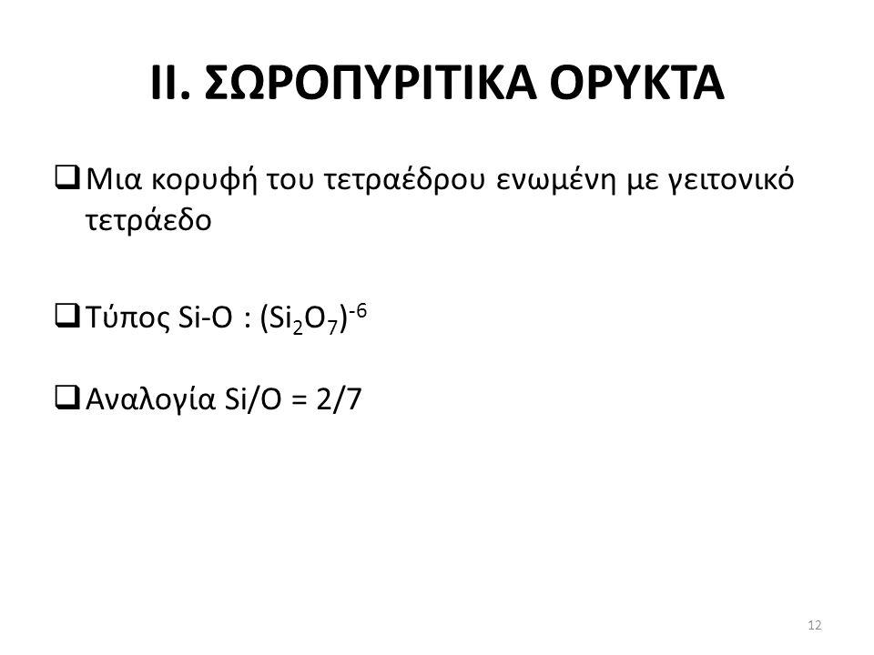II. ΣΩΡΟΠΥΡΙΤΙΚΑ ΟΡΥΚΤΑ