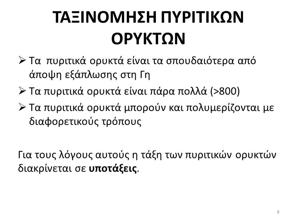 ΤΑΞΙΝΟΜΗΣΗ ΠΥΡΙΤΙΚΩΝ ΟΡΥΚΤΩΝ