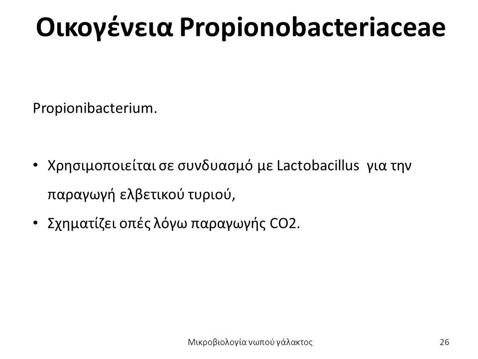 Οικογένεια Propionobacteriaceae