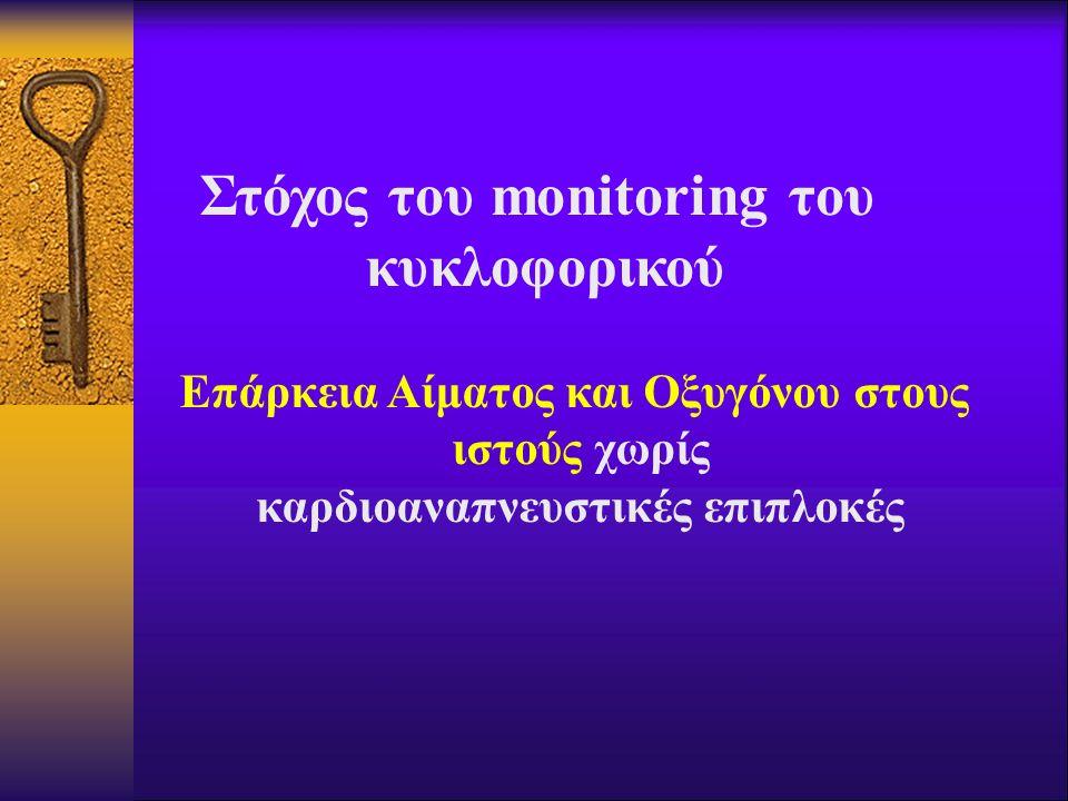 Στόχος του monitoring του κυκλοφορικού