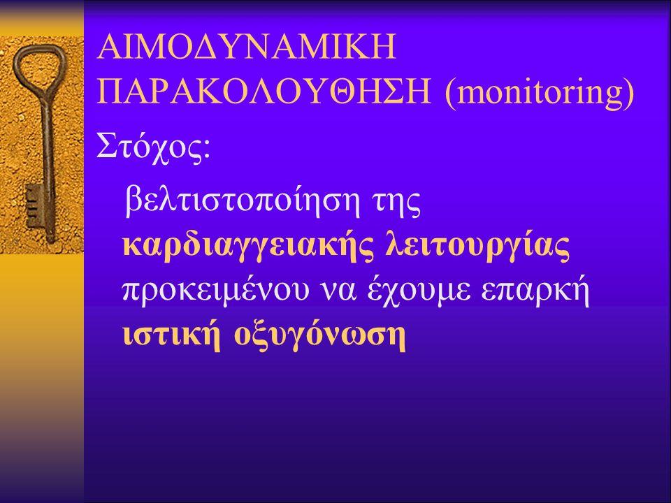 ΑΙΜΟΔΥΝΑΜΙΚΗ ΠΑΡΑΚΟΛΟΥΘΗΣΗ (monitoring)