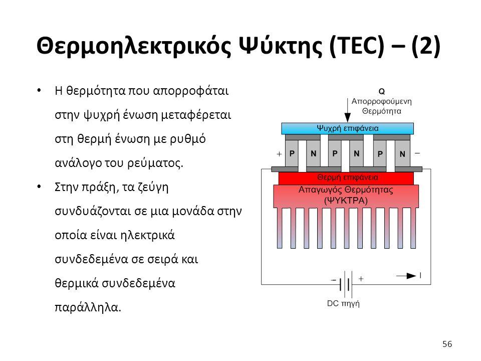 Θερμοηλεκτρικός Ψύκτης (TEC) – (2)