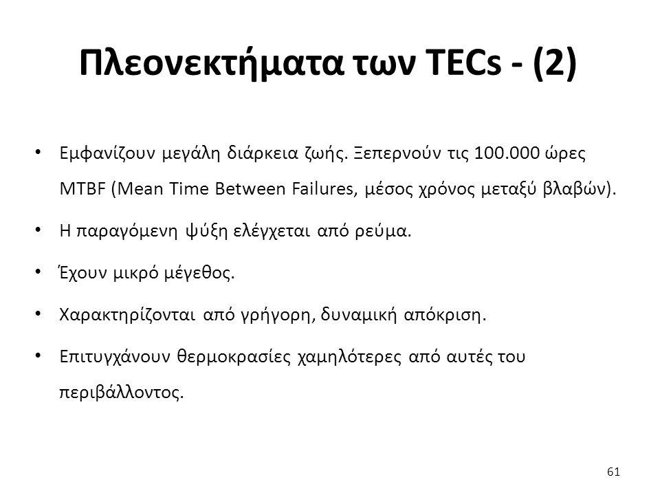 Πλεονεκτήματα των TECs - (2)