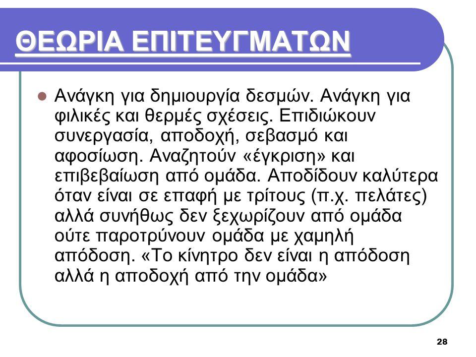 ΘΕΩΡΙΑ ΕΠΙΤΕΥΓΜΑΤΩΝ