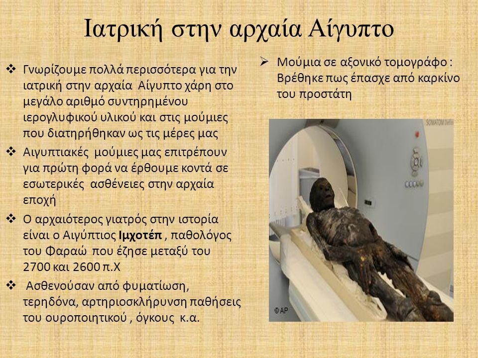 Ιατρική στην αρχαία Αίγυπτο