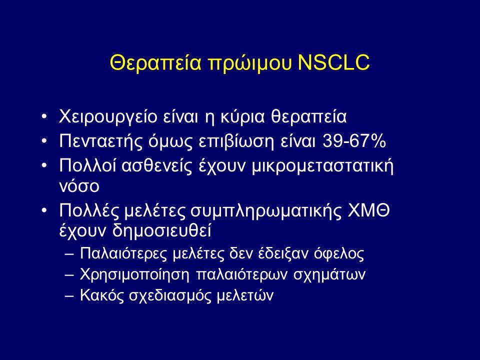 Θεραπεία πρώιμου NSCLC