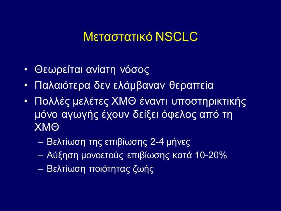 Μεταστατικό NSCLC Θεωρείται ανίατη νόσος