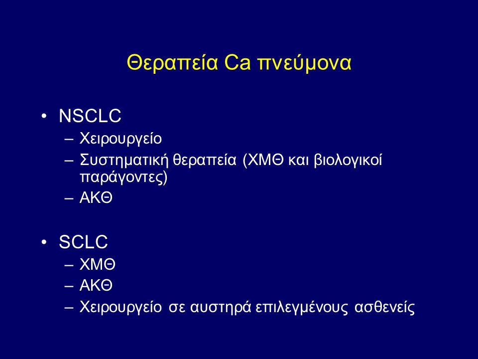Θεραπεία Ca πνεύμονα NSCLC SCLC Χειρουργείο