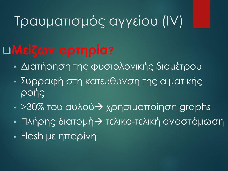 Τραυματισμός αγγείου (ΙV)