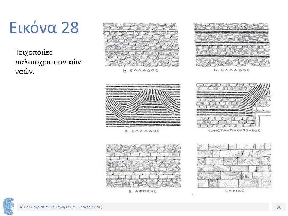 Εικόνα 28 Τοιχοποιίες παλαιοχριστιανικών ναών.