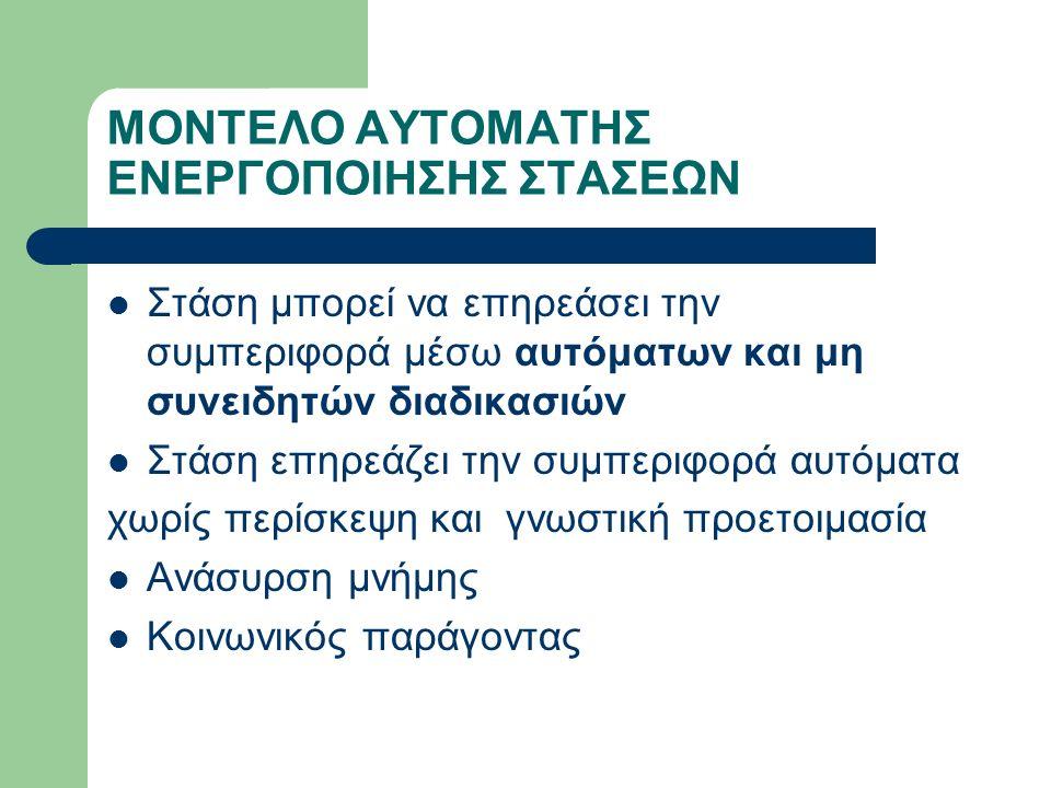 ΜΟΝΤΕΛΟ ΑΥΤΟΜΑΤΗΣ ΕΝΕΡΓΟΠΟΙΗΣΗΣ ΣΤΑΣΕΩΝ