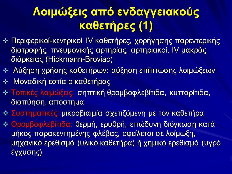 Λοιμώξεις από ενδαγγειακούς καθετήρες (1)