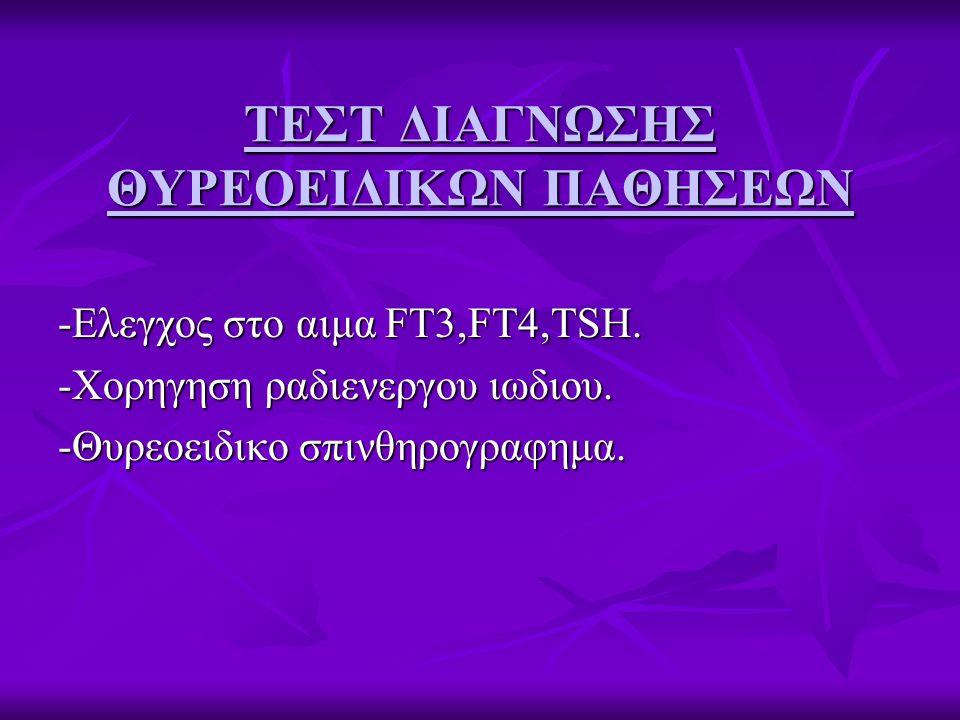 ΤΕΣΤ ΔΙΑΓΝΩΣΗΣ ΘΥΡΕΟΕΙΔΙΚΩΝ ΠΑΘΗΣΕΩΝ