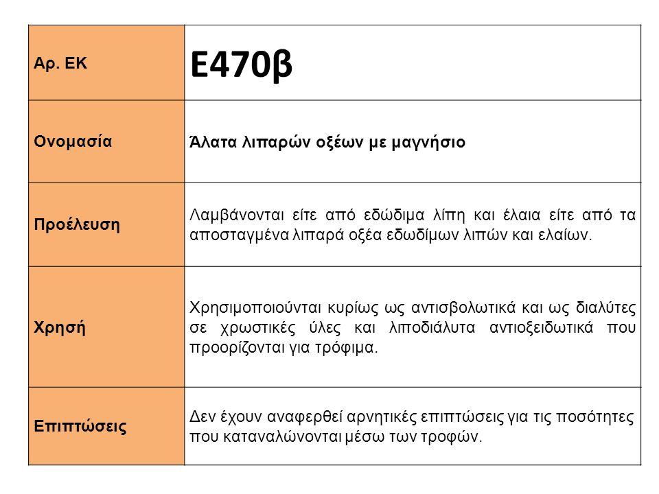 Ε470β Αρ. ΕΚ Άλατα λιπαρών οξέων με μαγνήσιο Ονομασία