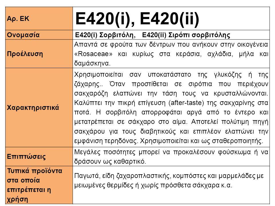Ε420(i), E420(ii) Αρ. ΕΚ Ονομασία