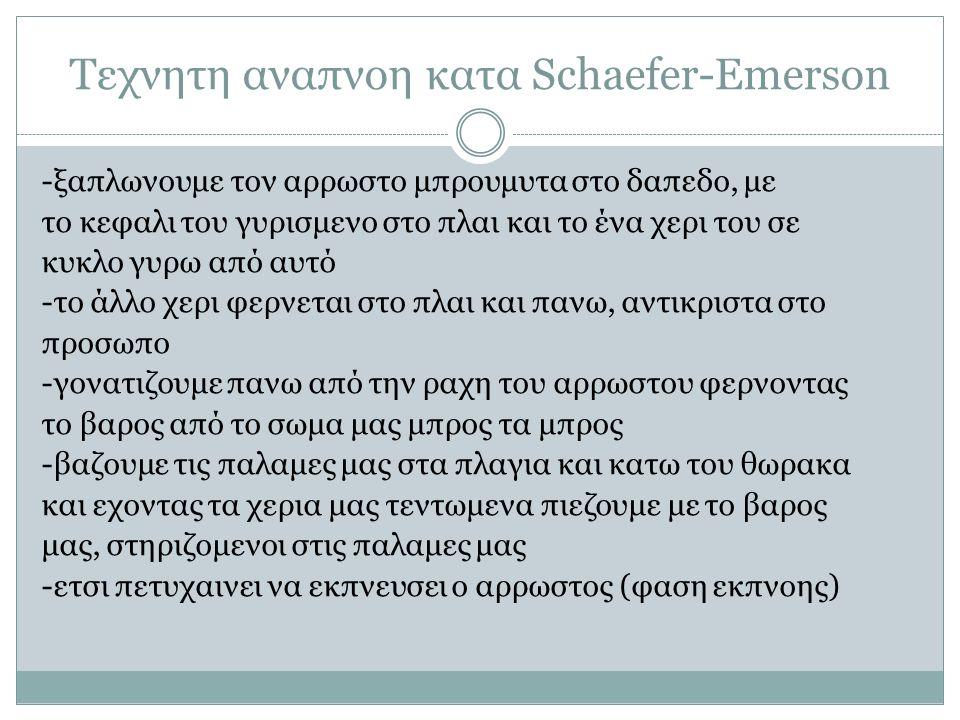 Τεχνητη αναπνοη κατα Schaefer-Emerson