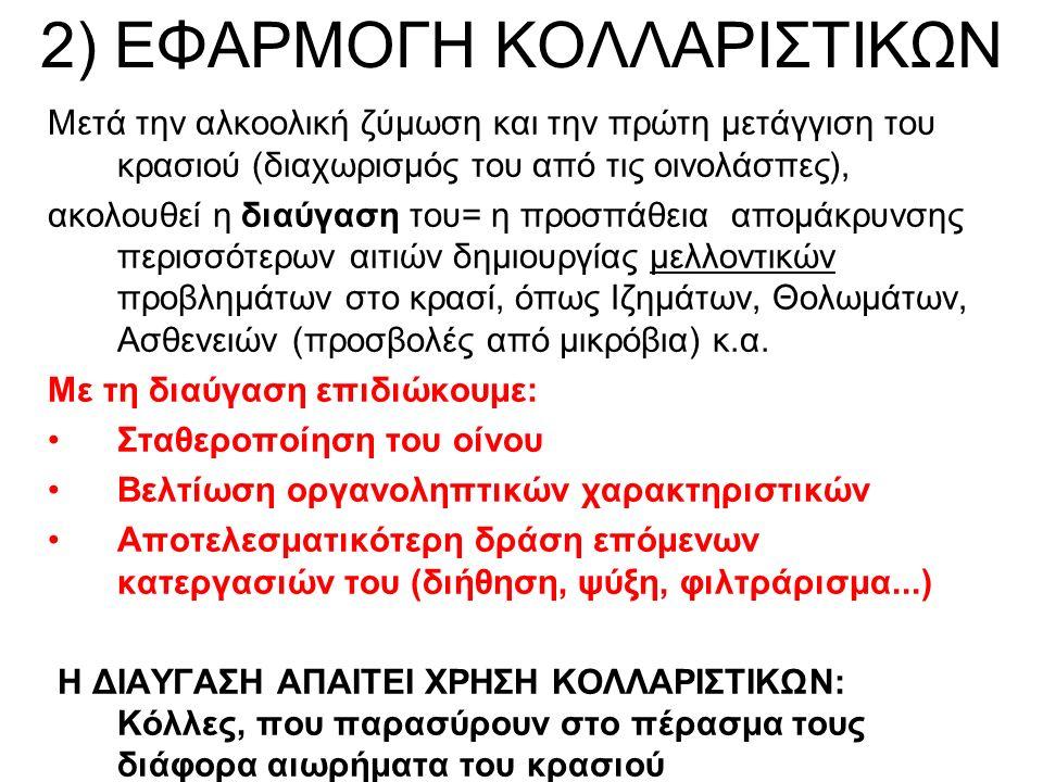 2) ΕΦΑΡΜΟΓΗ ΚΟΛΛΑΡΙΣΤΙΚΩΝ