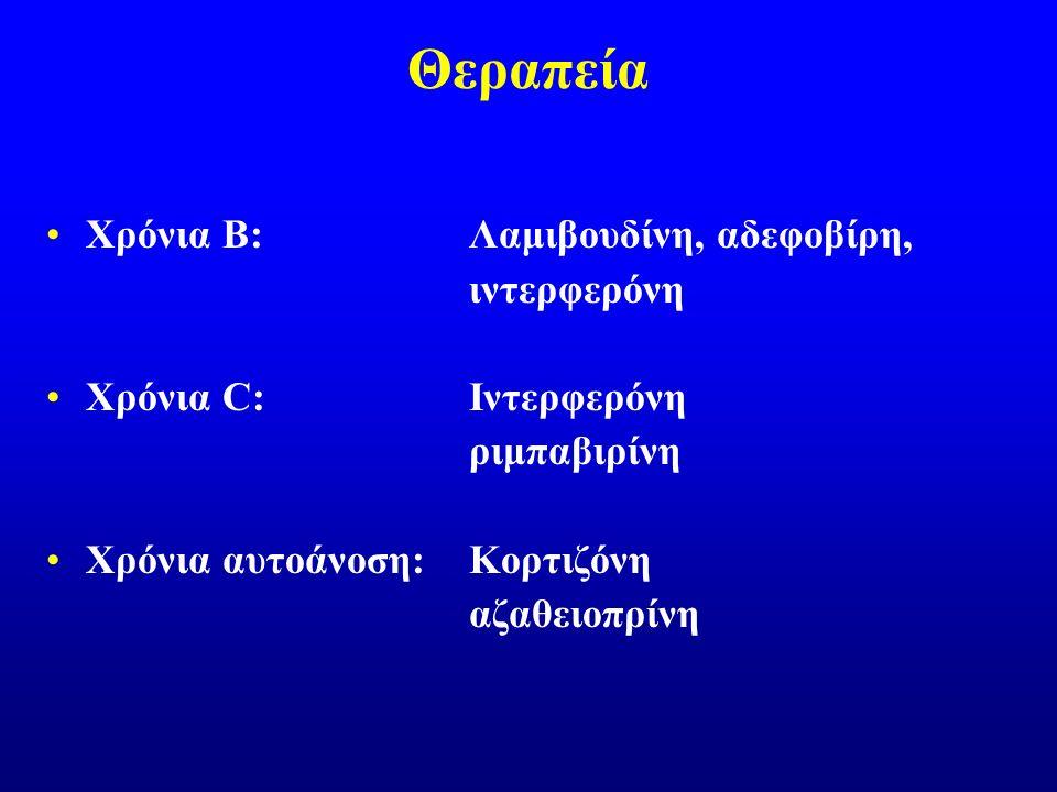 Θεραπεία Χρόνια B: Λαμιβουδίνη, αδεφοβίρη, ιντερφερόνη