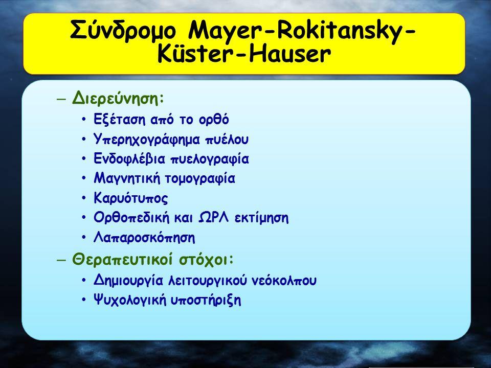 Σύνδρομο Mayer-Rokitansky-Küster-Hauser