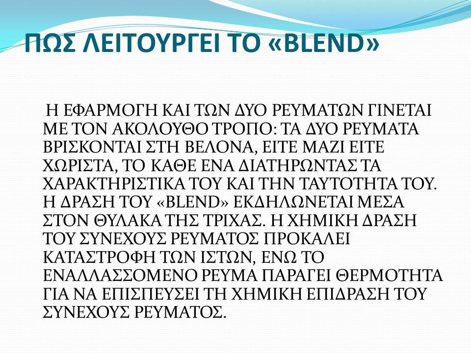 ΠΩΣ ΛΕΙΤΟΥΡΓΕΙ ΤΟ «BLEND»