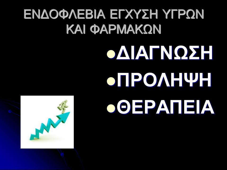 ΕΝΔΟΦΛΕΒΙΑ ΕΓΧΥΣΗ ΥΓΡΩΝ ΚΑΙ ΦΑΡΜΑΚΩΝ