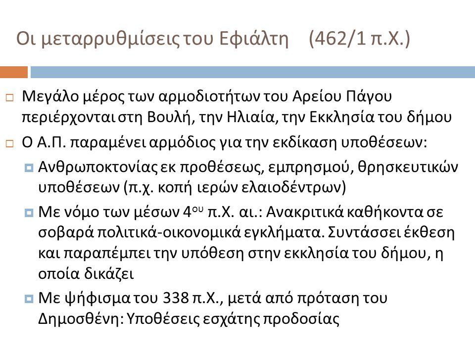 Οι μεταρρυθμίσεις του Εφιάλτη (462/1 π.Χ.)
