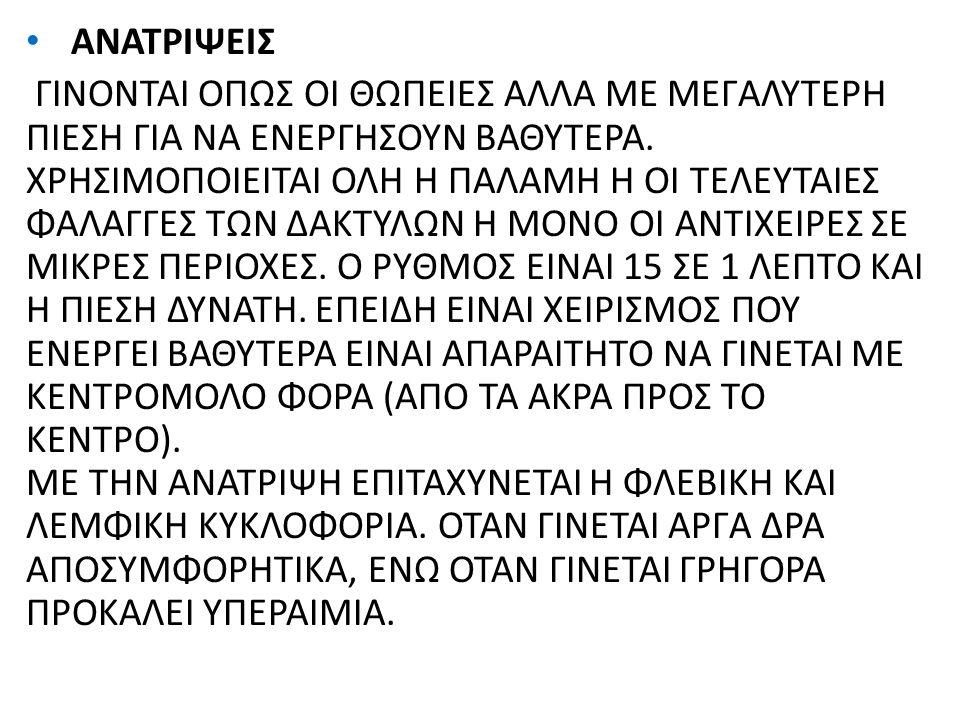 ΑΝΑΤΡΙΨΕΙΣ