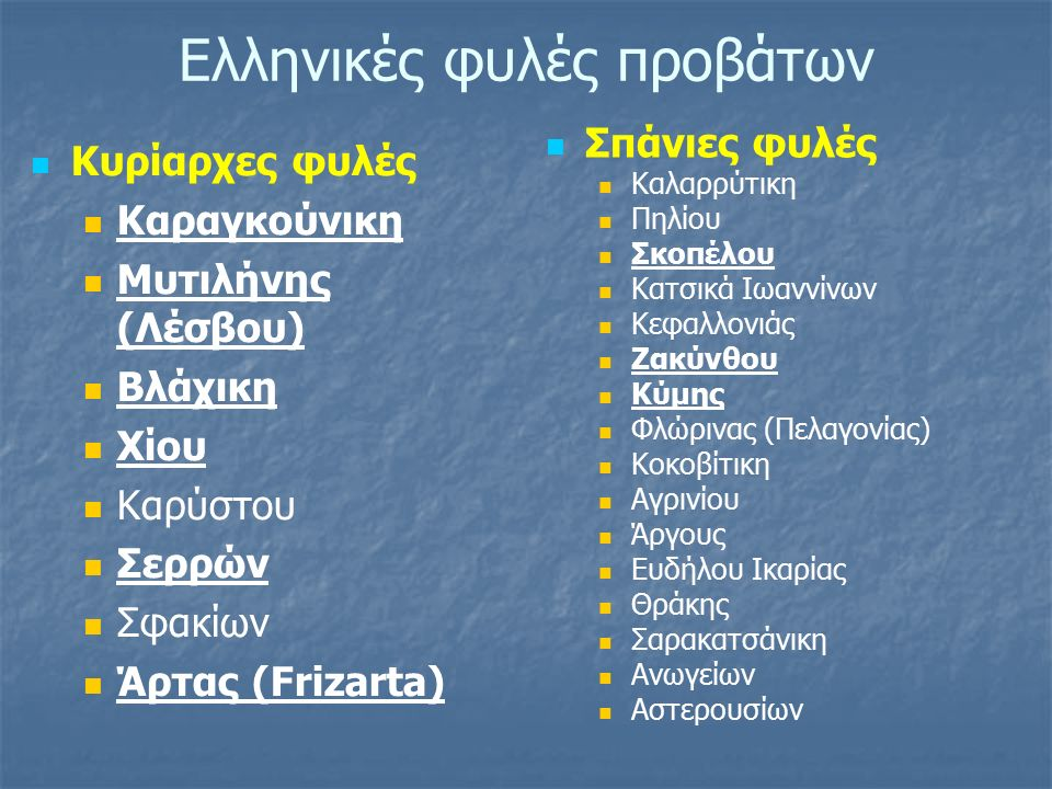 Ελληνικές φυλές προβάτων