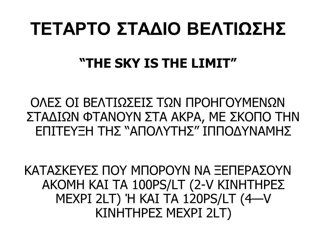ΤΕΤΑΡΤΟ ΣΤΑΔΙΟ ΒΕΛΤΙΩΣΗΣ