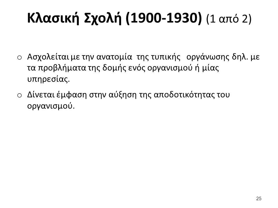 Κλασική Σχολή (1900-1930) (2 από 2)