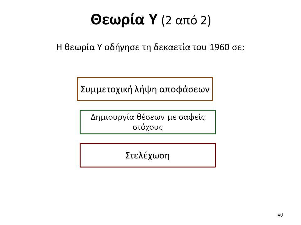 Οι θεωρίες Χ,Υ και Ζ επικεντρώνονται όλες στο πρόσωπο.