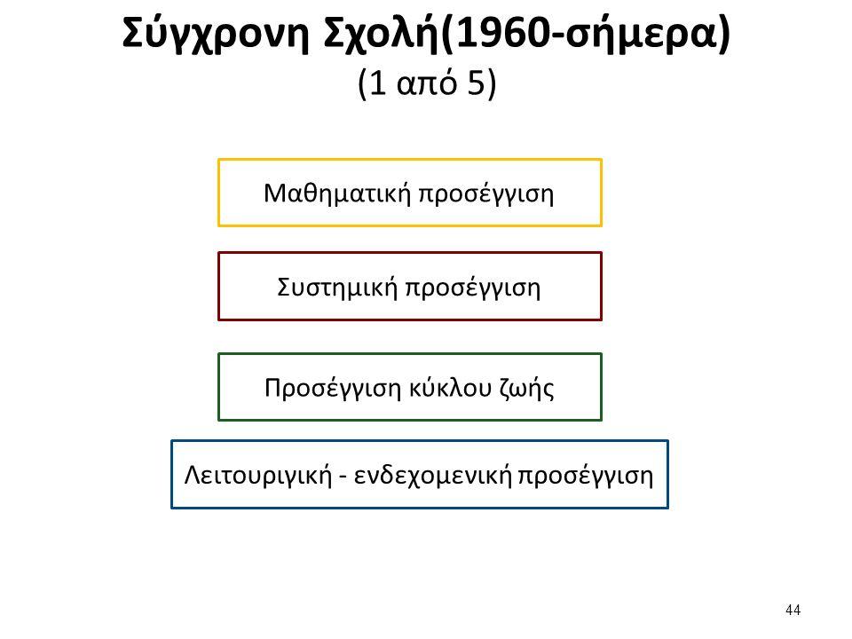 Σύγχρονη Σχολή(1960-σήμερα) (2 από 5)