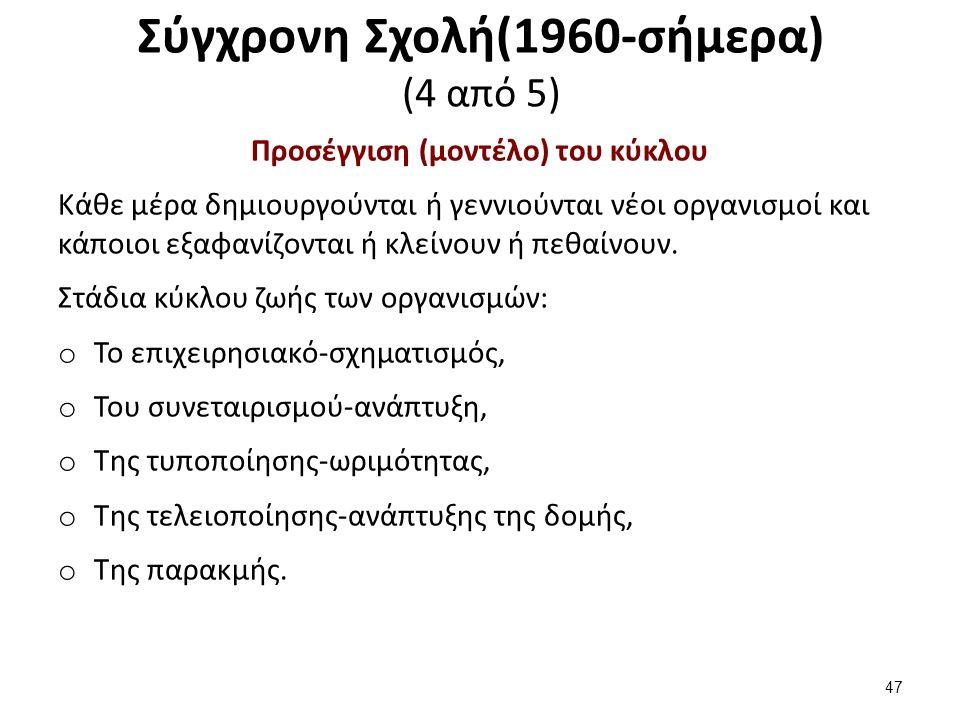 Σύγχρονη Σχολή(1960-σήμερα) (5 από 5)