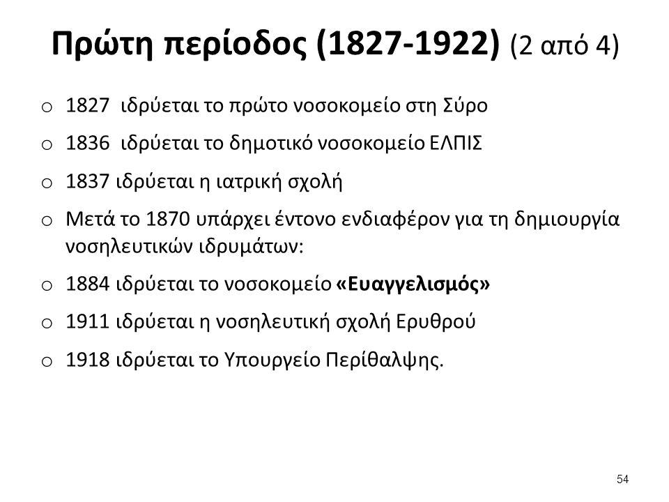 Πρώτη περίοδος (1827-1922) (3 από 4)